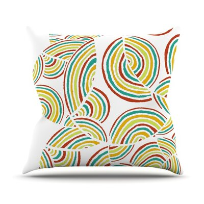 Rainbow Sky Outdoor Throw Pillow