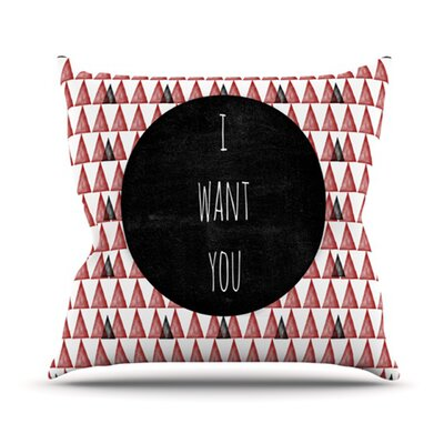 I Want You Outdoor Throw Pillow