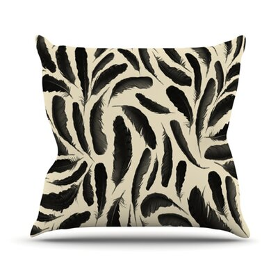 Feather Pattern Outdoor Throw Pillow