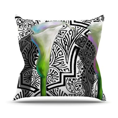 Three Lily Outdoor Throw Pillow