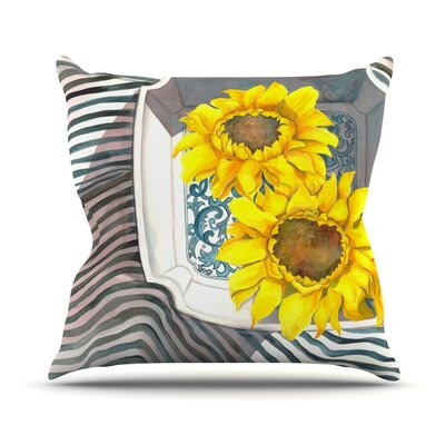 Finall Sunflower Outdoor Throw Pillow