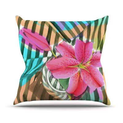 Lilly Stripes Outdoor Throw Pillow