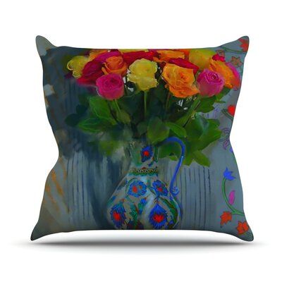 Spring Bouquet Outdoor Throw Pillow