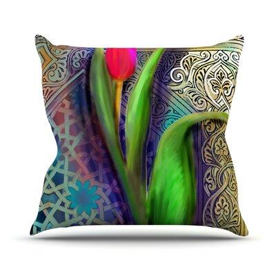 Arabesque Tulip Outdoor Throw Pillow