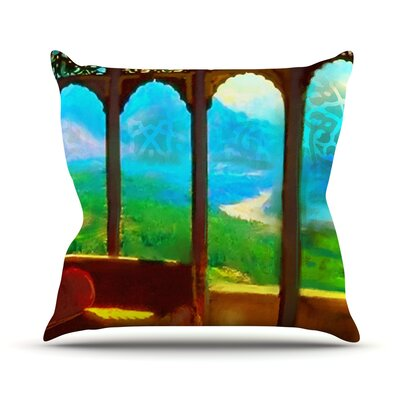 Mountain Retreat Outdoor Throw Pillow