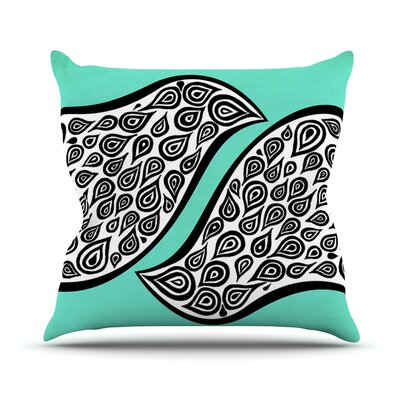 Two Romantic Birds Outdoor Throw Pillow