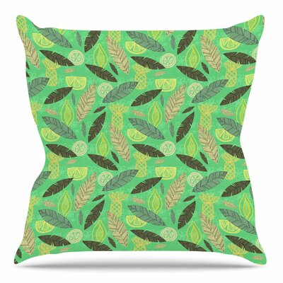 Tropical Fruits by Jane Smith Throw Pillow Size: 18 H x 18 W