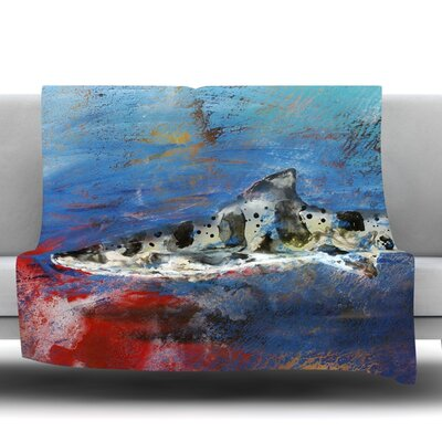 Sea Leopard by Josh Serafin Fleece Blanket Size: 40 L x 30 W