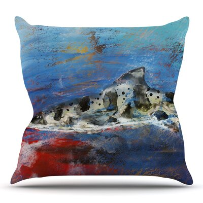 Sea Leopard by Josh Serafin Throw Pillow Size: 16 H x 16 W