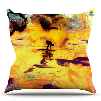 Pool of Life by Josh Serafin Throw Pillow Size: 18 H x 18 W