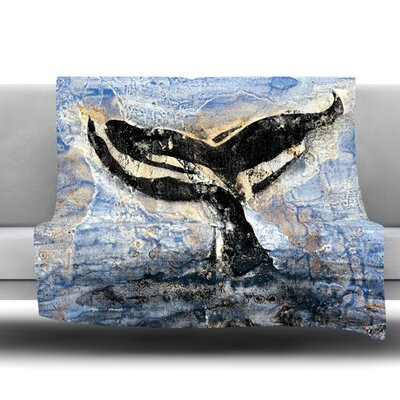 Whale Tail by Josh Serafin Fleece Blanket Size: 40 L x 30 W