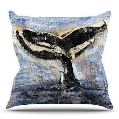 Whale Tail by Josh Serafin Throw Pillow Size: 26 H x 26 W