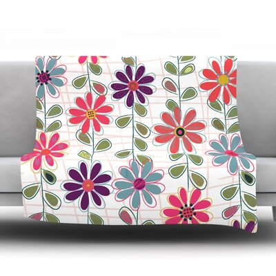 Fall Flowers by Jolene Heckman Fleece Blanket Size: 40 L x 30 W