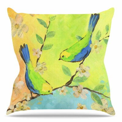 Song Birds by Jacqueline Milton Throw Pillow Size: 26 H x 26 W