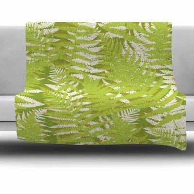 Fun Fern by Jacqueline Milton 80 Fleece Blanket Size: 80 L x 60 W