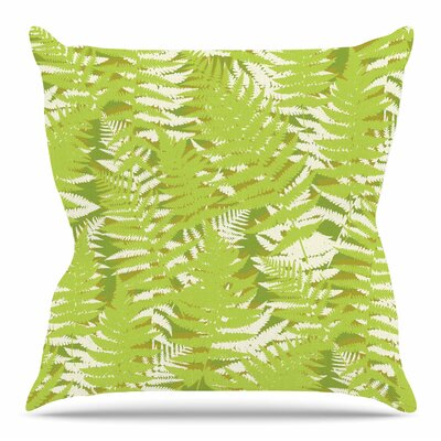 Fun Fern by Jacqueline Milton 16 Throw Pillow