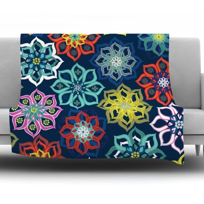 Multi Flower by Jolene Heckman Fleece Blanket Size: 80 L x 60 W