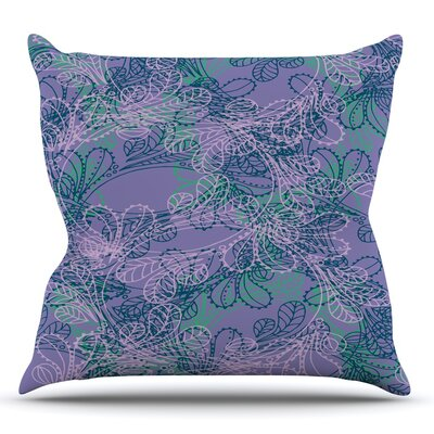 Jaipur Juniper by Patternmuse Throw Pillow Size: 26 H x 26 W