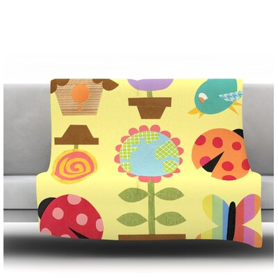 Spring Repeat by Jane Smith Fleece Blanket Size: 60 L x 50 W