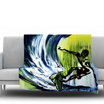 Greenroom by Josh Serafin Fleece Blanket Size: 40 L x 30 W