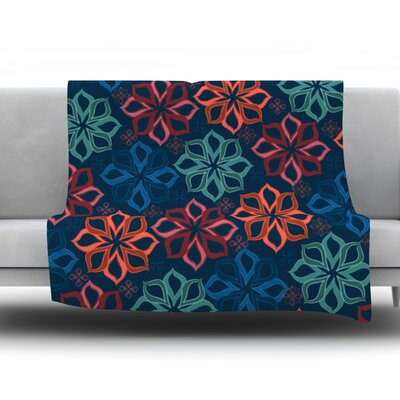 Floral Charm by Jolene Heckman Fleece Blanket Size: 60 L x 50 W