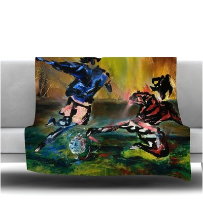Slidetackle by Josh Serafin Fleece Blanket Size: 40 L x 30 W
