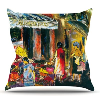 Alimentari by Josh Serafin Throw Pillow Size: 16 H x 16 W