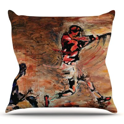 Its Gone! by Josh Serafin Throw Pillow Size: 26 H x 26 W