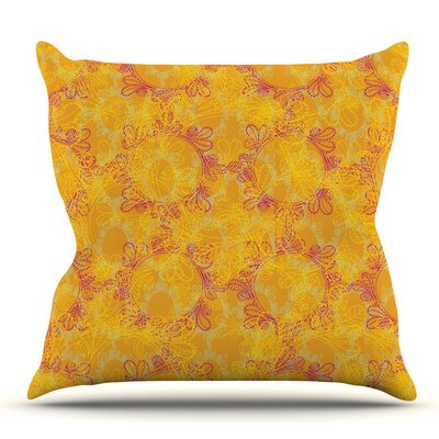 Jaipur Saffron by Patternmuse Throw Pillow Size: 26 H x 26 W
