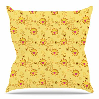 Its All Sunshine by Jane Smith Throw Pillow Size: 26 H x 26 W