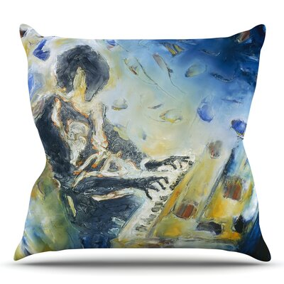 Riders on the Storm by Josh Serafin Throw Pillow Size: 26 H x 26 W