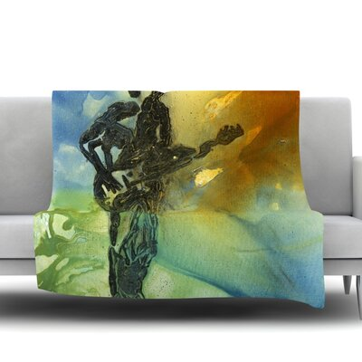 Rhythm by Josh Serafin Fleece Blanket Size: 40 L x 30 W