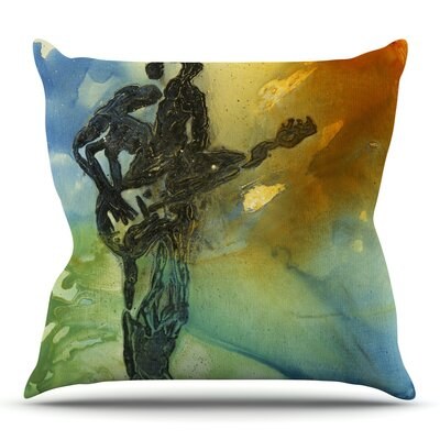 Rhythm by Josh Serafin Throw Pillow Size: 18 H x 18 W