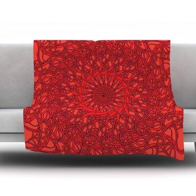 Mandala Spin Romance by Patternmuse Fleece Blanket Size: 80 L x 60 W
