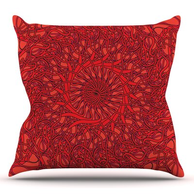 Mandala Spin Romance by Patternmuse Throw Pillow Size: 26 H x 26 W