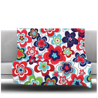 A Cheerful Morning by Jolene Heckman Fleece Blanket Size: 60 L x 50 W