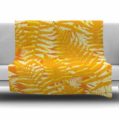 Fun Fern by Jacqueline Milton 30 Fleece Blanket