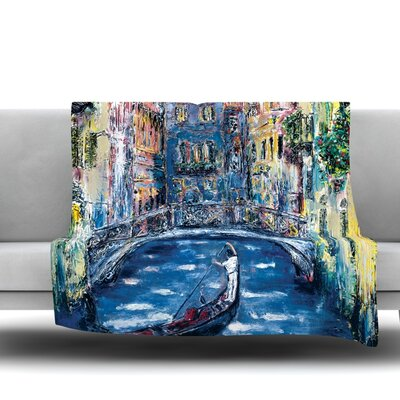 Venice by Josh Serafin Fleece Blanket Size: 40 L x 30 W