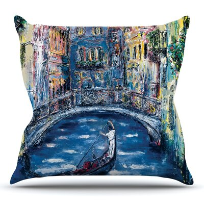 Venice by Josh Serafin Throw Pillow Size: 26 H x 26 W