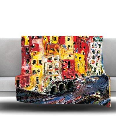 Cinque Terre by Josh Serafin Fleece Blanket Size: 80 L x 60 W