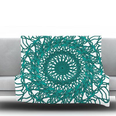 Mandala Spin by Patternmuse 60 Fleece Blanket