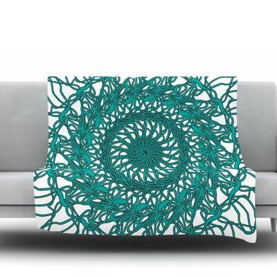 Mandala Spin by Patternmuse 80 Fleece Blanket