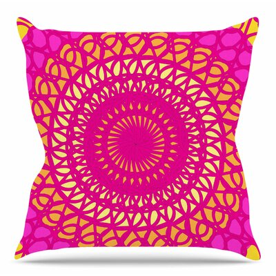 Radiant Pomegranate by Patternmuse Throw Pillow Size: 16 H x 16 W