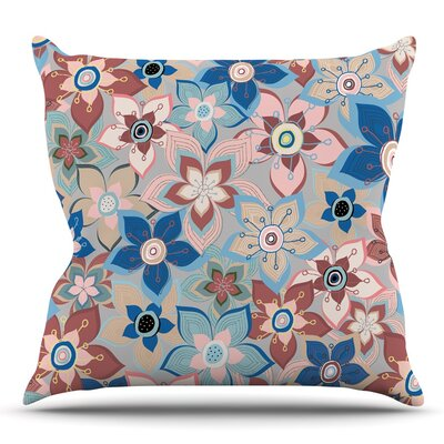 Marsala Floral Mix by Jolene Heckman Throw Pillow Size: 18 H x 18 W