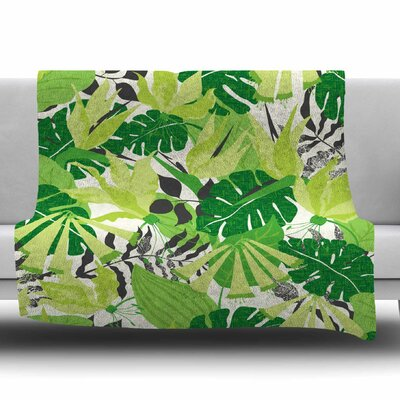Tropicana by Jacqueline Milton 80 Fleece Blanket Size: 80 L x 60 W