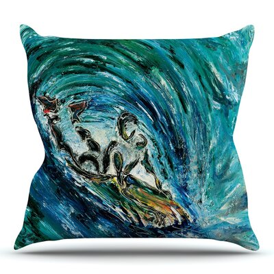 Sponge by Josh Serafin Throw Pillow Size: 18 H x 18 W