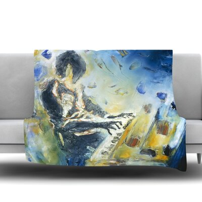 Riders on the Storm by Josh Serafin Fleece Blanket Size: 40 L x 30 W