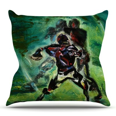 1st & 10 by Josh Serafin Throw Pillow Size: 18 H x 18 W