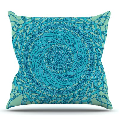 Mandala Spin by Patternmuse Throw Pillow Size: 16 H x 16 W