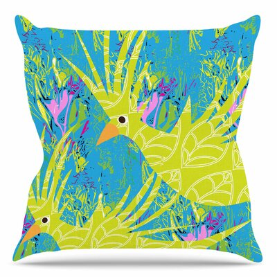 Tropical Fly by Patternmuse Throw Pillow Size: 26 H x 26 W